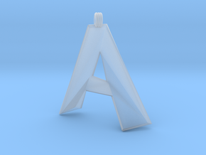 Distorted Letter A in Smooth Fine Detail Plastic