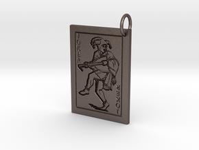 Joker Keychain/Pendant in Polished Bronzed Silver Steel