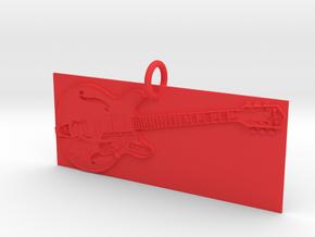 Electric Guitar Pendant in Red Processed Versatile Plastic