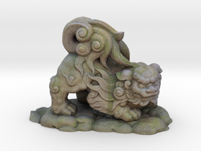 Komainu Shinagawa Shrine in Full Color Sandstone