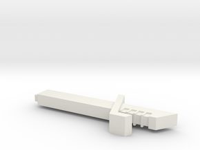 Darksaber Hilt in White Natural Versatile Plastic