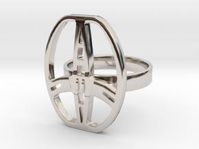 Garrett metal detector coil ring in Rhodium Plated Brass