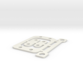 RC10B6 1mm Gear Box Spacer Set in White Natural Versatile Plastic