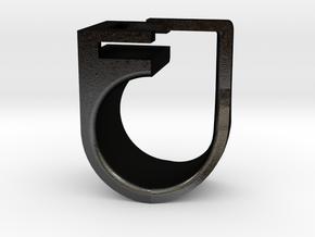 C-CURE Key Holder in Matte Black Steel: 6 / 51.5