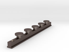 IKEA KVARTAL In Curtain Rail  V1 in Polished Bronzed Silver Steel