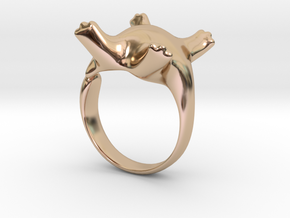 Cat Ring II -the lazy in 14k Rose Gold Plated Brass: 5 / 49