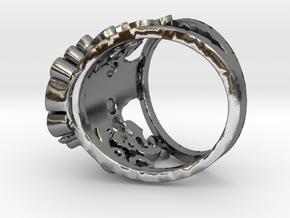 The Handsome Joker - Skull ring in Polished Silver