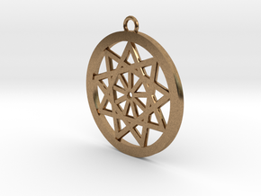 Pendant sun in Natural Brass
