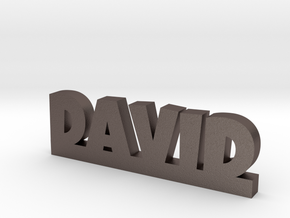 DAVID Lucky in Polished Bronzed Silver Steel