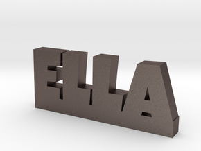 ELLA Lucky in Polished Bronzed Silver Steel