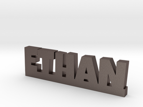 ETHAN Lucky in Polished Bronzed Silver Steel