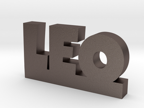 LEO Lucky in Polished Bronzed Silver Steel