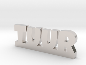 TUUR Lucky in Rhodium Plated Brass