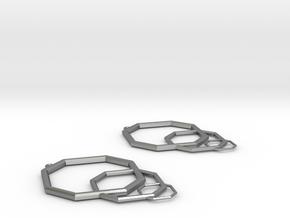 Earrings Model CI Pair in Natural Silver