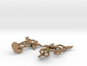 Kotomi Earrings in Interlocking Raw Brass