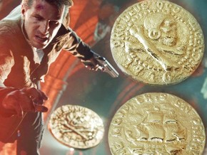 Pirate Coin Uncharted 4 in Polished Gold Steel: Medium