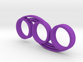 Bi-Swirl Fidget Spinner in Purple Strong & Flexible Polished