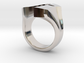 """A Nation's Battle"" Ring in Rhodium Plated Brass: 3 / 44"