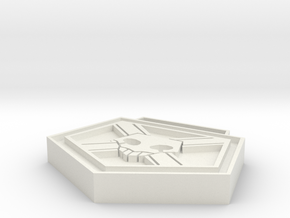 Combat Pass in White Natural Versatile Plastic: Small