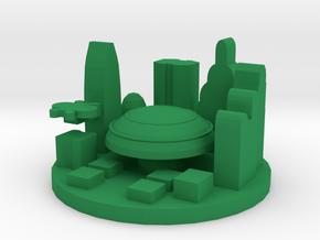 Game Piece, Galactic Capital in Green Processed Versatile Plastic
