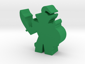 Game Piece, Orc Chieftain in Green Processed Versatile Plastic