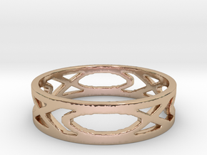 Women's Fish Ring in 14k Rose Gold Plated Brass: 6 / 51.5