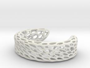 Voronoi Bracelet B in White Strong & Flexible