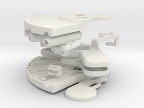 Plastic bouwkit voor parfum pistool. in White Strong & Flexible