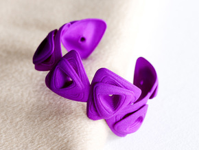 Rose Bracelet in Purple Processed Versatile Plastic
