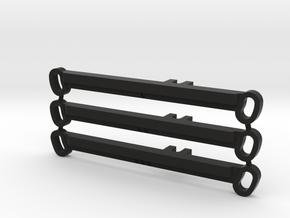 Set Barras Direccion para Mr02 - 0-1-2 grados in Black Natural Versatile Plastic