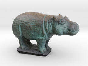 Rhinoceros in Full Color Sandstone