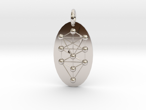 Tree of Life Medallion in Rhodium Plated Brass