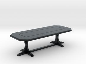 Cafe table. rectangular. 1:48 in Black Hi-Def Acrylate