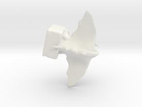 Gargoyle sculpture by T.J. Nobile in White Natural Versatile Plastic