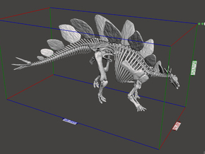 Stegosaurus Skeleton (1:18 / 1:30) in White Natural Versatile Plastic: 1:18