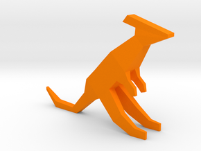 Low-poly Kangaroo in Orange Processed Versatile Plastic