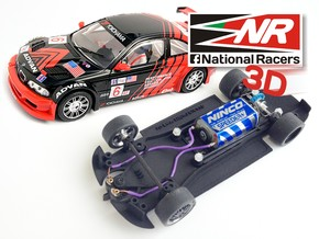 3D chassis for Fly 320i/M3 GTR (Inline​) in Black Strong & Flexible