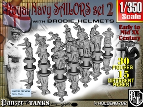 1-350 Generic Royal Navy Sailors Set 2 in Smoothest Fine Detail Plastic