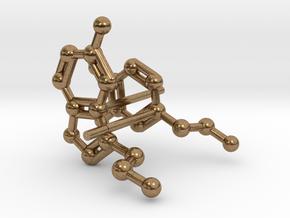 Serotonin & Dopamine Earrings in Raw Brass