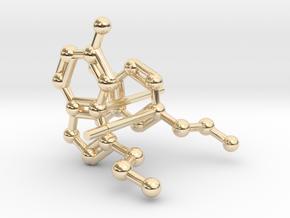 Serotonin & Dopamine Earrings in 14k Gold Plated Brass