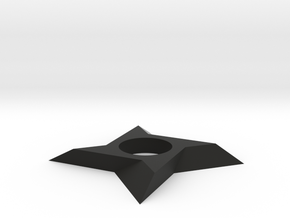 Shuriken Spinner in Black Natural Versatile Plastic