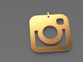 Instagram Pendent in 14k Gold Plated Brass