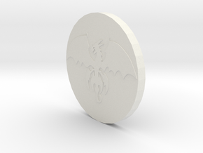 Dragon Coin in White Strong & Flexible