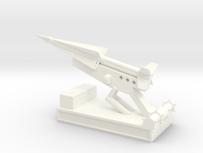 1/200 Scale Nike Launch Pad With Missile in White Strong & Flexible Polished