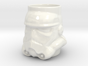 Stormtrooper Coffee Mug in Gloss White Porcelain