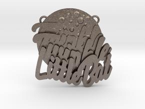 Twinkle Twinkle Little Bat Pendant in Polished Bronzed Silver Steel