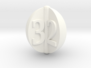 d3 apple slices in White Strong & Flexible Polished: Small