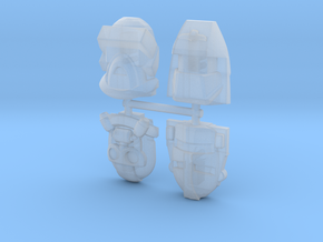 MASK 4-Pack #1 (Titans Return) in Smooth Fine Detail Plastic