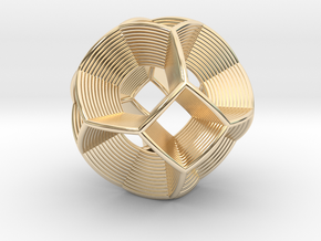 0412 Spherical Truncated Octahedron (d=6cm) #004 in 14k Gold Plated Brass
