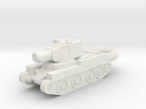 BT-42 Assault Gun KEYCHAIN in White Natural Versatile Plastic